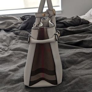 Burberry Bags - Burberry Banner Small leather & house check Ivory